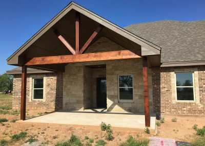 front view crosswise custom home west texas
