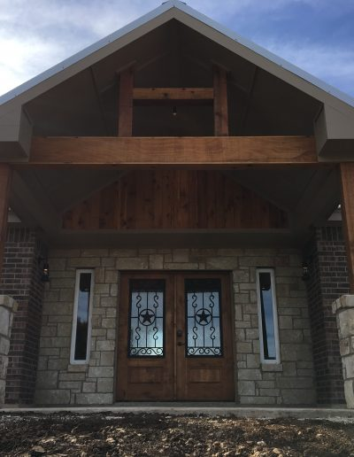 modern entry view crosswise custom homes creative texas