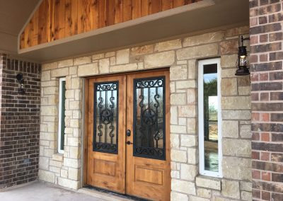 custom entry way crosswise custom homes abilene texas