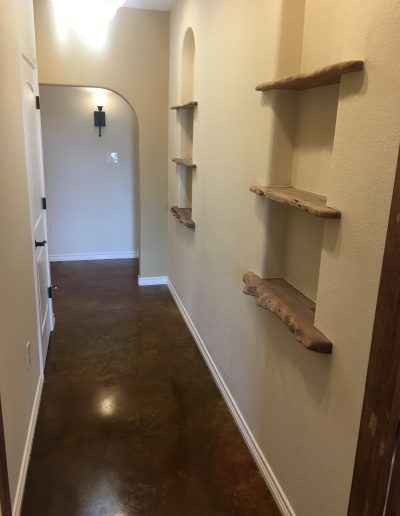 custom homes eula abilene crosswise hallway